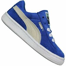 Puma Originals Suede Baby Small Child Trainers Suede Booties Blue White 21 0990aa264