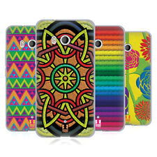 HEAD CASE DESIGNS EMBROIDERY PRINTS SOFT GEL CASE FOR HTC PHONES 1