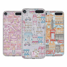 HEAD CASE DESIGNS DOODLE MAPS SOFT GEL CASE FOR APPLE iPOD TOUCH MP3