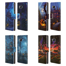 OFFICIAL GENO PEOPLES ART HALLOWEEN LEATHER BOOK CASE FOR SAMSUNG PHONES 1