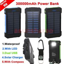 300000mAh Dual USB Portable Solar Battery Charger Solar Power Bank For Phone BO