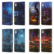 OFFICIAL GENO PEOPLES ART HALLOWEEN LEATHER BOOK WALLET CASE FOR SONY PHONES 1