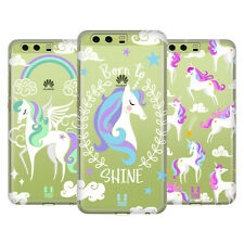 HEAD CASE DESIGNS COLOURFUL UNICORNS HARD BACK CASE FOR HUAWEI PHONES 1