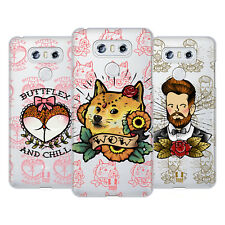 HEAD CASE DESIGNS TATUAGGI DIVERTENTI COVER RETRO RIGIDA PER LG TELEFONI 1