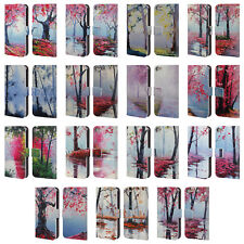 OFFICIAL GRAHAM GERCKEN TREES LEATHER BOOK WALLET CASE FOR APPLE iPOD TOUCH MP3