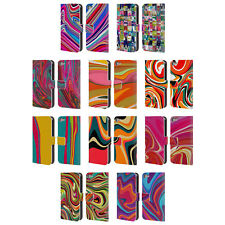 SHELLY BREMMER VIVID ABSTRACT LEATHER BOOK WALLET CASE FOR APPLE iPOD TOUCH MP3