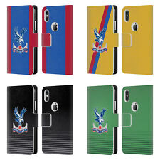 CRYSTAL PALACE FC 2016/17 PLAYERS KIT LEATHER BOOK CASE FOR APPLE iPHONE PHONES