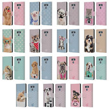 OFFICIAL STUDIO PETS PATTERNS LEATHER BOOK WALLET CASE COVER FOR LG PHONES 1
