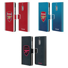 ARSENAL FC 2017/18 CREST KIT LEATHER BOOK WALLET CASE FOR MICROSOFT NOKIA PHONES