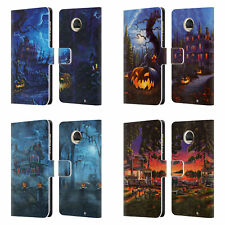 OFFICIAL GENO PEOPLES ART HALLOWEEN LEATHER BOOK WALLET CASE FOR MOTOROLA PHONES