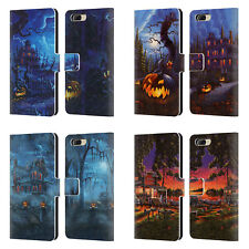 OFFICIAL GENO PEOPLES ART HALLOWEEN LEATHER BOOK CASE FOR BLACKBERRY ONEPLUS