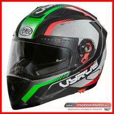 Casco moto Integrale Premier Vyrus MP IT Tricolore Italia Verde Rosso Opaco