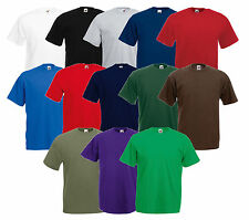 de 5 FRUIT OF THE LOOM T-shirt pour hommes Valueweight LOT DIVERS COULEURS S -