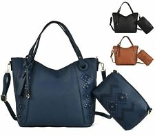 New Womens Ladies Slouch Bag Pusre Faux Leather Fashion Shoulder Bucket Handbag