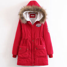 Veste veste manteau chaud manteau long rouge parka confortable 1295