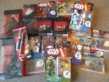 Star Wars figures - toys - collectables - books - pens - star wars - keyrings
