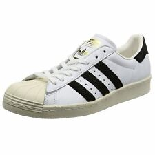 Adidas Superstar 80s Footwear White Core Black Mens Leather Sneakers Trainers