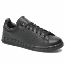 Adidas Stan Smith Black Leather Mens Trainers Sneakers