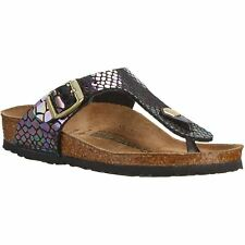 Birkenstock Gizeh Shiny Snake Black Multicolor Women Birko-Flor Toe-post Sandals