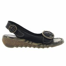 Fly London TRAM723FLY Wedge Black Womens Sandals