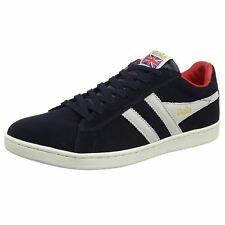 Gola Equipe Navy White Men Suede Low Top Classic Casual Lace-up Sneaker Trainers