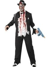 Adult Zombie 20s Gangster Mens Halloween Horror Party Fancy Dress Costume Outfit