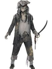 Adult Zombie Pirate Ghost Ship Ghoul Mens Halloween Party Fancy Dress Costume