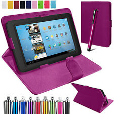 """Folding Folio For Amazon, Universal 7"""" Inch Tab Case Cover Pouch Leather Stand"""