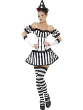 SALE Adult Sexy Fever Clown Mime Diva Ladies Halloween Party Fancy Dress Costume