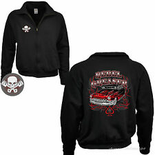 1098 FELPA CON ZIP LOW RIDER AUTO SPORTIVA rockabilly-kustom Vintage Speed Shop