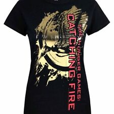 Hunger Games - Catching Fire Metallic Ladies T Shirt Size:XL - NEW & OFFICIAL