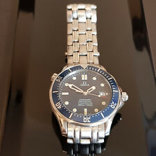 Omega Seamaster Automatic Stainless Steel Blue Dial Mens Watch