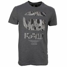 G-Star Raw T Camiseta Cuello Redondo Negro Gris frikran regular fit d01348 4834
