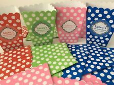 Set of 12 Personalised Sweet Candy Popcorn Birthday Party Treat Boxes