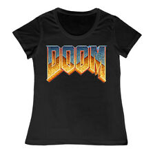 Ladies Doom Retro Gamer Logo T Shirt N64 Nintendo Xbox PS4 Playstation Amiga