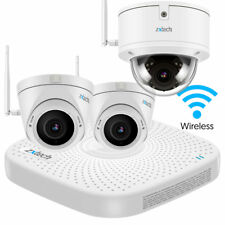 3 x Wireless Camera Recorder Cloud 1080p Water Proof Metal Zoom Home CCTV System