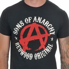 Sons of Anarchy - Anarchy Symbol T Shirt Size:S - NEW & OFFICIAL