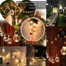20 LED 6M Festoon Globe Outdoor Christmas Party Holiday Fairy String Lights