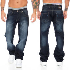 Rock Creek Pantaloni Denim Jeans Uomo Blu taglio-dritto gamba dritta rc-2091