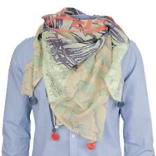 Camel Active Donna Sciarpa Foulard Verde Colorato Multicolore Materiale Mix 5v42