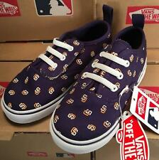 Vans San Diego Padres MLB Toddler V Lace Authentic Sneakers Laced Slip On
