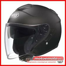 Casco Moto Scooter Shoei J Cruise Black nero Jet Doppia Visiera Fibra