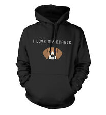 BEAGLE Sudadera Con Capucha Unisex 'I Love My ' Todas Las Tallas Dog Animales