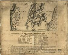Poster Print Antique American Military Map Champlain