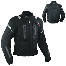 Motorcycle Jacket CE Armored Motorbike Textile Warterproof 4 layer Black