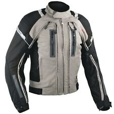 Motorcycle Jacket CE Armored Motorbike Textile Warterproof 4 layer Grey