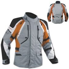 Motorbike Motorcycle Waterproof CE Armored Textile Touring Jacket Cordura Orange