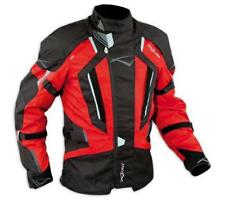 Motorbike Motorcycle Waterproof CE Armours Textile Touring Tex Jacket Red