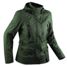 CE Armour City Scooter Ladies Textile Motorcycle Touring Motorbike Jacket Green