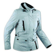 CE Armour City Scooter Ladies Textile Motorcycle Motorbike Jacket Light Blue
